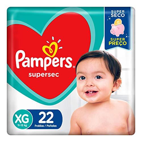 Fralda Infantil Pampers Supersec, com 22 Fraldas Descartáveis, Tamanho XG, PAMPERS SUPERSEC