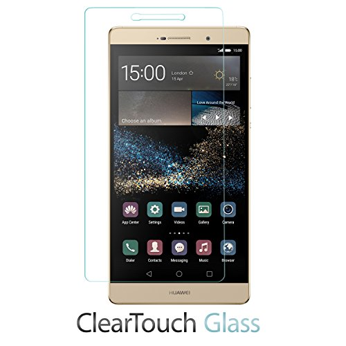 Huawei P8 Max Screen Protector, BoxWave [ClearTouch Glass] 9H Tempered Glass Screen Protection for Huawei P8 Max