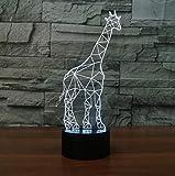 Interruptor táctil de luz nocturna de bus ilusión3Dy lámpara de escritorio con control remoto7colores cambian el botón táctil y el cable modelado creativo regalo de zoológico