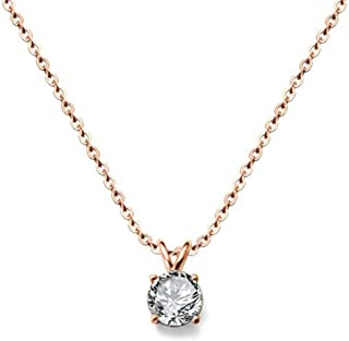 Best stainless steel rose gold necklace Reviews