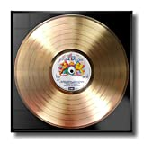 Disc'O'Clock Queen - A Night AT The Opera: Cornice con Disco d'oro - Idea Regalo per Veri Fan della Mitica Band di Freddie Mercury