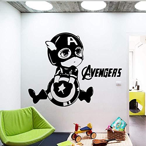 Divertente Bella Capitan America PVC-Aufkleber murali Wohnkultur per la decorazione domestica Soggiorno Kamera da letto im Stil nordico Decorazione della 58 * 73cm