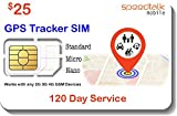 $25 GSM SIM Card for GPS Trackers - Pet Kid Senior Vehicle...
