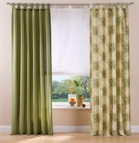 Woontextiel live 2x kant-en-klaar deco gordijn 135x245cm met lussen sjaal gordijnen ondoorzichtig groen