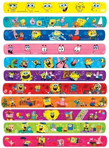 Spongebob Slap Bracelet Lot of 20 by Spongebob and Friends