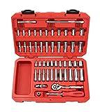 TEKTON 1/2-Inch Drive Socket Set, Inch/Metric, 6-Point, 3/8-Inch - 1-5/16-Inch, 10 mm - 32 mm, 84-Piece | 13203