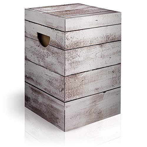 murando Papphocker Motiv Holz 45x30x30 cm faltbar Papier Hocker ergonomischer Karton Photohocker Falthocker f-C-0311-ap-a