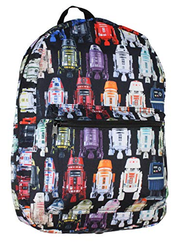 Bioworld Star Wars Multicolor R2-D2 All-Over Print Laptop Backpack