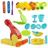 Kare & Kind Kit d'outils pour pâte à modeler avec outils d'extrusion et ensemble d'heure du déjeuner (Kare and Kind Retail...