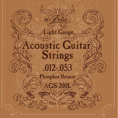 ARIA アリア Acoustic Guitar フォークギター弦 Light ライト フォスファーブロンズ AGS-200L