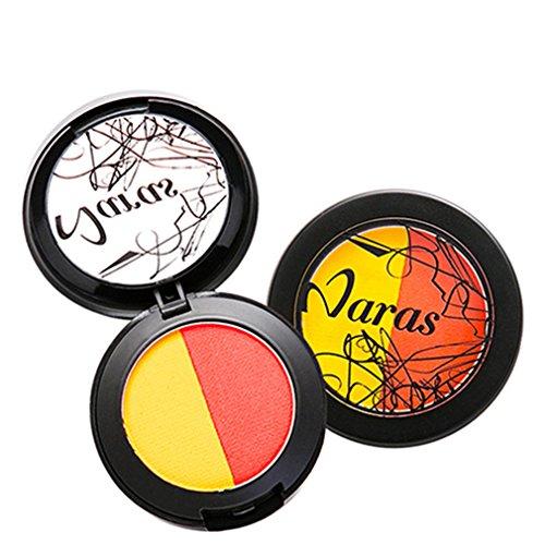 Pure Vie® 2 Couleurs Palette de Maquillage Blush Fard à Joues Poudre Cosmétique Set - Convient Parfaitement pour une Utilisation Professionnelle ou à la Maison