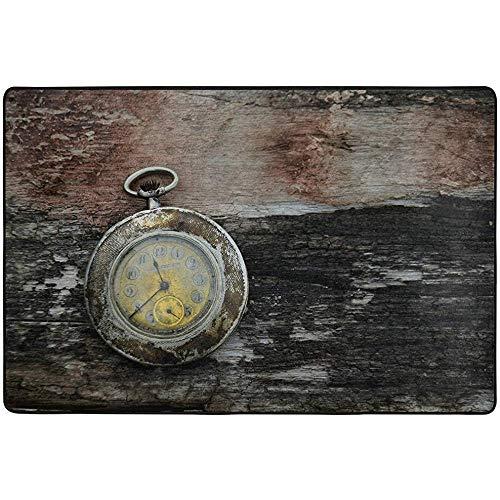 SESILY - Alfombrillas para exteriores, con reloj de bolsillo clásico para alfombra...