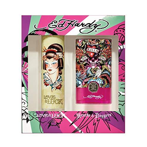 ED HARDY ED HARDY Women's Fragrance 2 Piece Gift Set, 3.4 Fl. Oz. Eau De Parfum, 2 Count