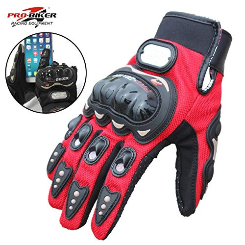 Bruce Dillon Guantes de Ciclista Motocross Full Finger Hombres y Mujeres Motocicleta Bike Riding Guantes Impermeables - 1 XM