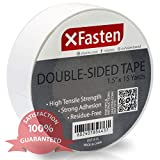 XFasten Double Sided Tape, Removable, 1.5-Inch by 15-Yards, Single...
