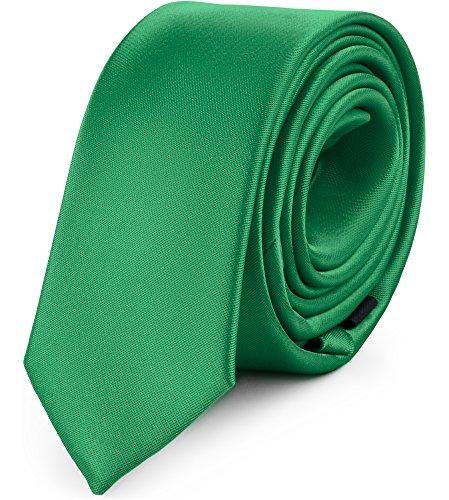 Ladeheid Corbatas Estrechas Diversidad de Colores Accesorios Ropa Hombre SP-5 (150cm x 5cm, Verde Oscuro)