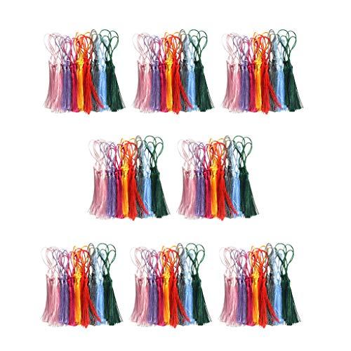 yotijar - 240 pompones multicolores de seda artesanal suave y artesanal, incluye