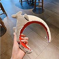 大人子供面白い恐竜サメぬいぐるみカチューシャかわいい漫画動物ヘアフープハロウィン誕生日祭かぶと小道具 ENDOSY (グレー)