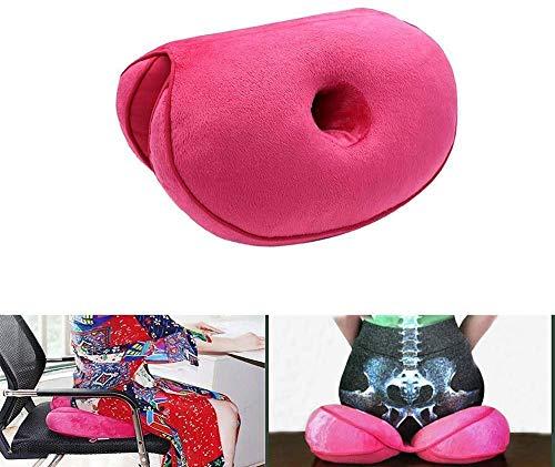 Dual Comfort Cushion Lift Hips Up Sitzkissen, Lift Hips Up Sitzkissen, orthopädisches Memory Foam Stützkissen für Ischias, Steißbein und Hüftschmerzen Druckentlastung auf dem Rücken (rot)