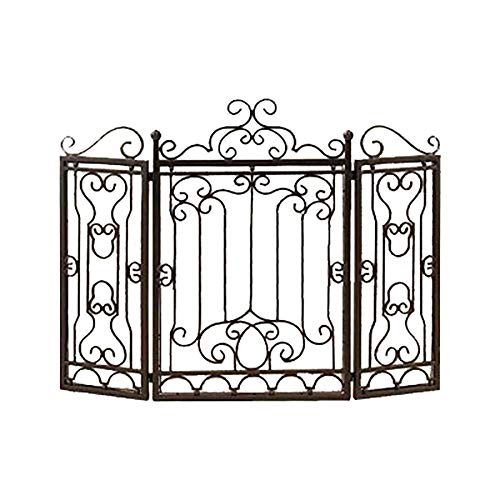 Learn More About Screen J-Fireplace 3-Panel 35×47in Wrought Iron Fireplace Safety, Vintage Outdoor ...