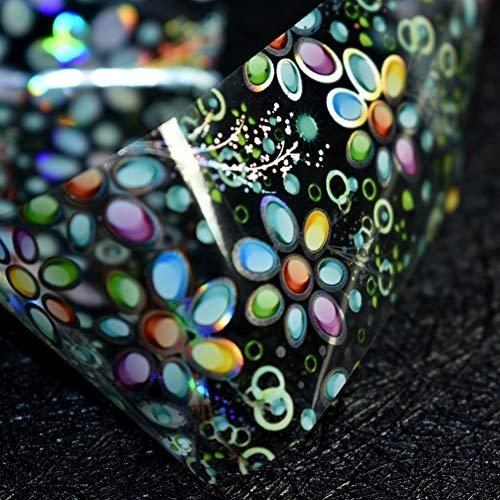 QSDFG Nagel Art Design Papier Folie Transfer Wilde bloem Sticker Folie Gemakkelijk DIY Manicure Tool Roll in heldere pot