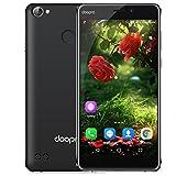 Foto DOOPRO C1 Pro Smartphone 4G Android 6.0 (Qualcomm MSM8909 Quad-Core 1.3GHz, 5.3'' IPS Schermo, 2GB RAM 16GB ROM, 2MP+8MP Camera, Fingerprint ID, Dual SIM, Batteria 4200mAh,Super Power Saving Mode) Nero