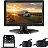 RV Backup Camera Kit 7'' LCD Monitor Driving High-Speed Rear View Observation Plug and Play System for Truck/RV/Trailer/5th Campers IP68 Waterproof Night Vision Driving Reversing Use