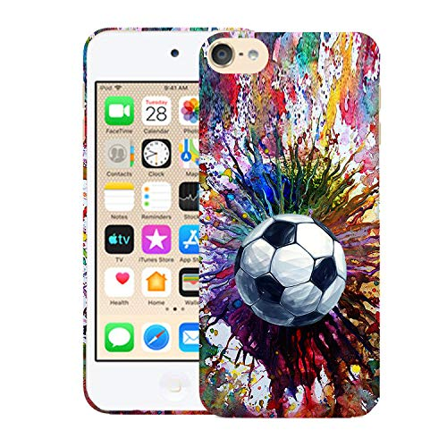 Glisten iPod Touch 7th / 6th / 5th Generation Case - Vintage Color Soccer Design Printed Cute Slim Fit Hard Plastic Designer Back Case for iPod Touch 7th, iPod Touch 6th & iPod 5th Generation