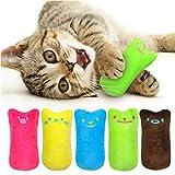 Legendog 5Pcs Catnip Toy, Cat Chew Toy Bite Resistant Catnip Toys for Cats,Catnip Filled Cartoon Mice Cat Teething Chew Toy (Multicolored)
