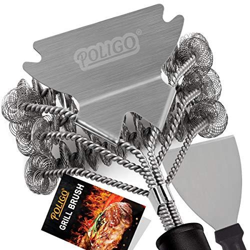 POLIGO Grill Brush and Scraper Bristle Free - 18