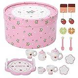 Simulation Teaware Toy, Teaware Toy, Bright Appearance Sicheres Lernspielzeug für Kinder(Pink Tea...