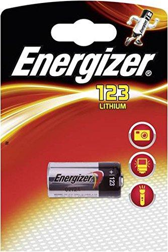 Batterie Lithium CR 123Energizer–Lithium 3V für Digitalkameras, Kameras Video, Rauchmelder Feuer, Durchmesser: 17mm hoch 34mm