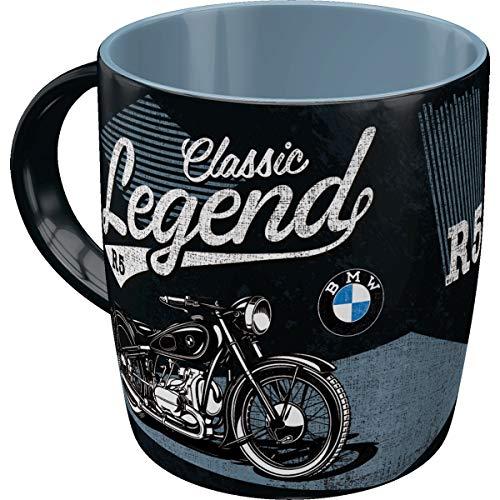 Nostalgic-Art Retro Kaffee-Becher - BMW - Classic Legend, Große Lizenz-Tasse mit BMW-Motiv, Vintage Geschenk-Idee für BMW Zubehör Fans, 330 ml