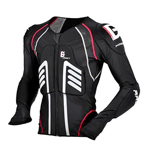 Sharplace Chaqueta para Hombres Armadura Protección de Espalda Codo Hombro de Motoristas Ciclistas - Negro L