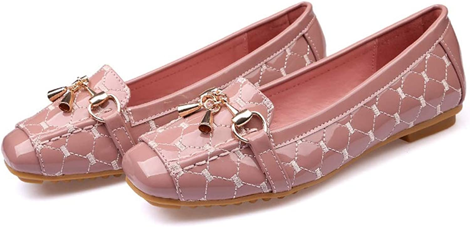 T-JULY Women Flat shoes 2018 Casual Fashion Slip-on Ballerina Woman Flats Patent Leather Loafers Ladies Spring Autumn Lady Footwear New