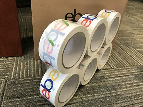 eBay Branded BOPP 2-mil Packaging Shipping Tape, Pack of (6) 75x2