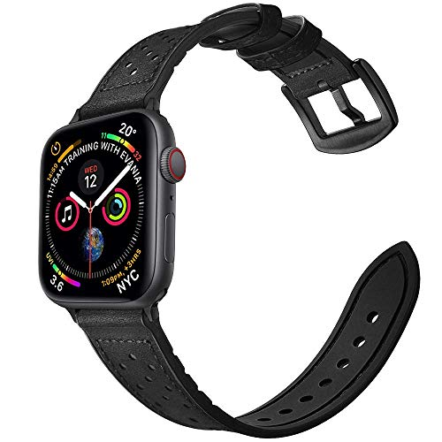 Mifa Compatible with Apple Watch Band 40mm 38mm Series 5 4 3 Hybrid Sports Leather Vintage Dressy Bands Suede Replacement...