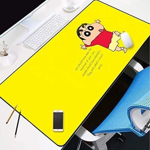 Gran juego amarillo alfombrilla de ratón linda de Shin-chan teclado extendido tapete de ratones Juego Mousepad for Ministerio del Interior antideslizante de la PC de escritorio Tabla alfombrilla de ra
