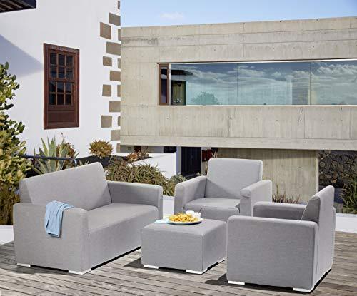 Gardissimo Wetterfeste Outdoor Sunbrella Lounge Tias Grey, 4 teilig