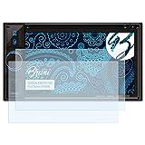 Bruni Schutzfolie kompatibel mit Clarion VX404E Folie, glasklare Displayschutzfolie (2X)