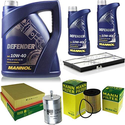 QR-Parts Kit 85506184 MN7507-5 HU 932/6 n C 33 256 MN7507-1 WK 831 CU 3759 7 L Defender 10W-40 + paquete de filtros MANN 10930562