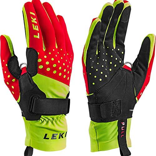 LEKI Nordic Race Shark Handschuhe, rot-gelb-schwarz, 10
