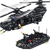 WWEI City Policía Juguetes de construcción, coche de policía SWAT, minifigura y armas, bloques de construcción para niños, compatible con Lego