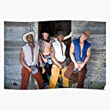 Mens Jeans Cowboy Gay Leather Western Chaps Hunk Guy - The Best and Newest Poster for Wall Art Home Decor Room I - Customize