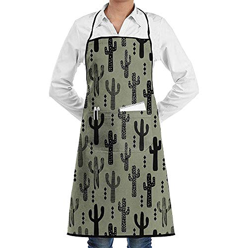 Babydo Kookschort Cactus Dark Green Kindergarten Unisex Chef's Schort Professional Grade Chef Schort BBQ Keukenfeest Deluxe Vrouwen Mannen Restaurant