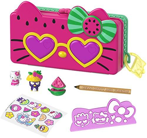 Hello Kitty Set de juego de lápices con diseño de sandía con muñecos y accesorios de juguete (Mattel GVC40)