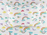 Where The Polka Dots Roam Twin Size Bed Sheets Rainbows and Unicorn 3 Piece Set │ Blue and White, Unisex, Flexible Microfiber, Durable, Wrinkle-Resistant Bedding │ Boys, Girls, Baby, Kids, Toddler