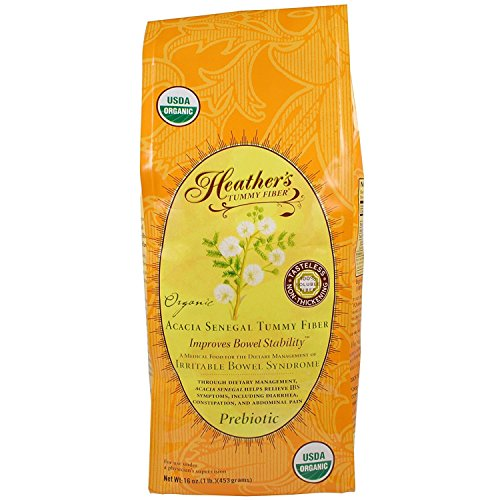 Heather's Tummy Fiber Organic Acacia Senegal for IBS, 16 Ounce Pouch