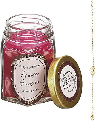The concept factory Bougie parfumée en Bocal avec Bijoux Surprise