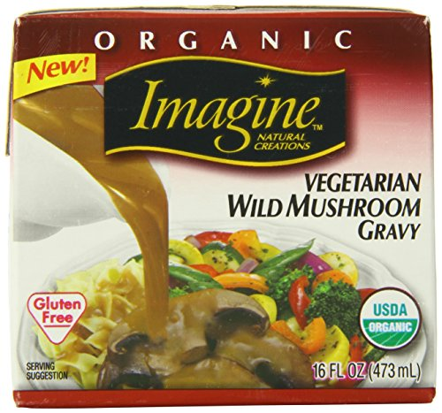 Imagine Organic Gravy, Vegetarian Wild Mushroom, 16 Ounce (Pack of 12)